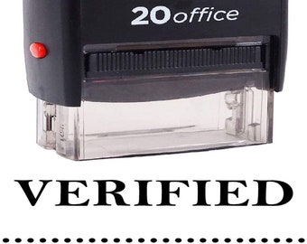 Printtoo Checked Self Inking Rubber Stamp Custom Shiny Office Stationery Stamp