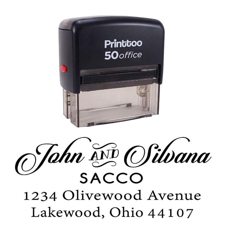 Return Address Stamper Self Inking Rubber Stamp Stationary Gift Idea IPHS88A Personalized Address Stamp Custom Wedding Invitation Stamp
