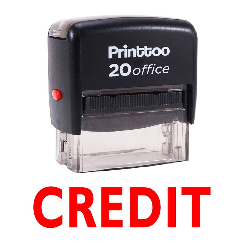 Custom Made Stamp Personalized Rubber Stamp Re-inkable Mini Stamp Self Inking Rubber Stamp Credit Text Stamp IPRSS74 Rectangular Stamp
