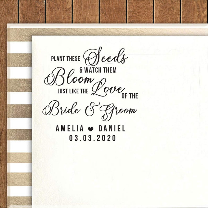 Wedding Gift Idea IPHS785 Personalized Rubber Stamp Wedding Favor Stamp Custom Round Stamp Save The Date Rubber Stamp Self Inking Stamp