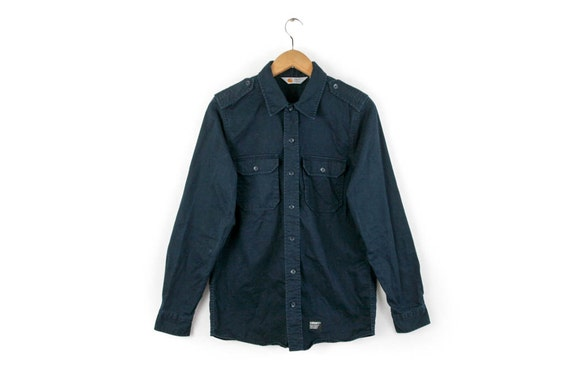 taniej oficjalny dostawca Najlepiej CARHARTT WIP • Vtg Shirt Oxford Button Down Minimalist Simple Workwear  Military Navy • Small S • Rare European Fashion Sportswear Streetwear