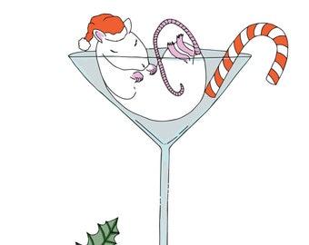 Christmas Martini Mouse