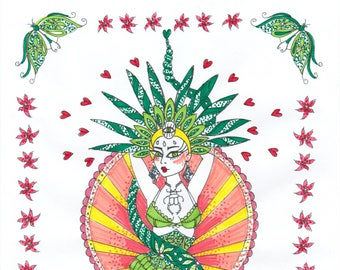 Serpent Lady Colouring Page 'The Circus Girl Colouring Book'