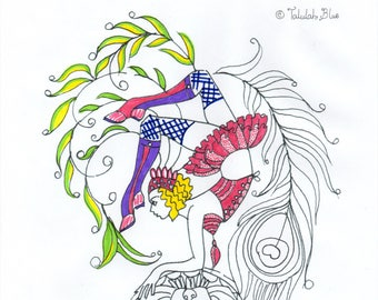 Wonders Colouring Page 'The Circus Girl Colouring Book'