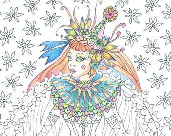 Pip the Circus Girl Colouring Page 'The Circus Girl Colouring Book'