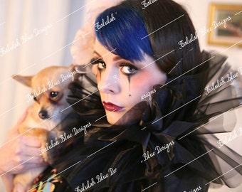 VINTAGE showgirl and dog