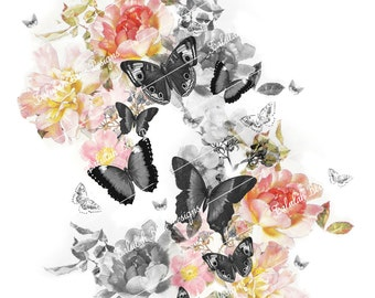 BUTTERFLY Floral Print