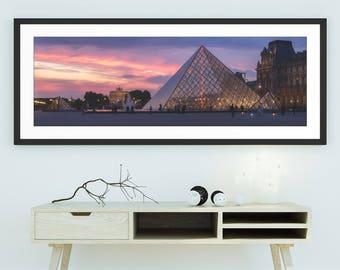 Louvre photography, Louvre Museum Paris, Paris Photography, Louvre panorama, Panoramic picture, paris night photography, louvre pyramid