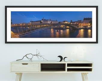 Passerelle Léopold-Sédar-Senghor - Passerelle Solférino, Wall Art, Paris, France, Panorama, Panoramic, Limited Edition Fine Art Print