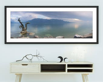 Photography Sea Horses of Vevey, Switzerland - Large Wall Art, Panoramic, Panorama, Limited Edition Fine Art Print, Signed and Numbered