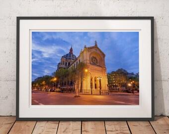 Fine Art Photography, Saint Augustin Church, Monument in Paris, France Paris Photography Print, Paris Wall Art, Cityscape Print, Paris Decor