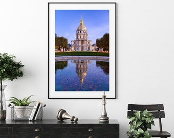 Fine Art Print of the Hotel des Invalides at dawn, Paris, France - Wall Art - Landscape Photography - Cityscape