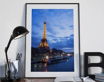 Paris Eiffel Tower Photograph, Paris Decor, Print, Wall Art, Wall Decor, Home Decor, Print, Fine Art Print, Photography Print, Horse
