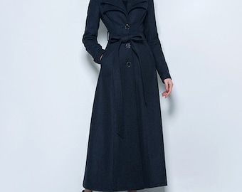 89820b1873c Winter long full length wool jacket warm cozy coat plus size winter coat  long sleeve coat dress plus size clothing custom