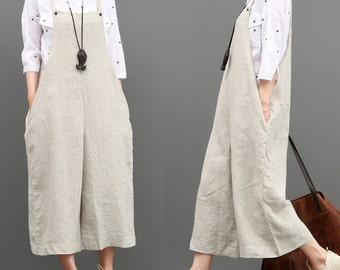 Casual loose linen harem pants women's pajama wide legged comfortable maxi pant plus size linen clothing