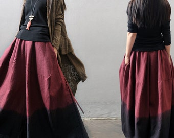Casual loose linen harem pants wide legged trousers maxi pant baggy pants yoga pants plus size linen clothing
