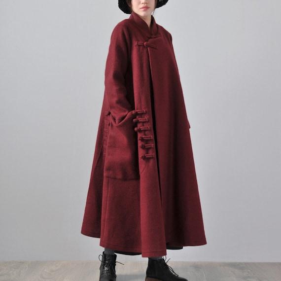 Confortable Longueur Laine Etsy En Longue Une Manteau Veste Avec qZ1YY4