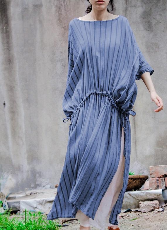 a591527d6d Asymmetrical tunic dress short sleeve linen dress linen maxi