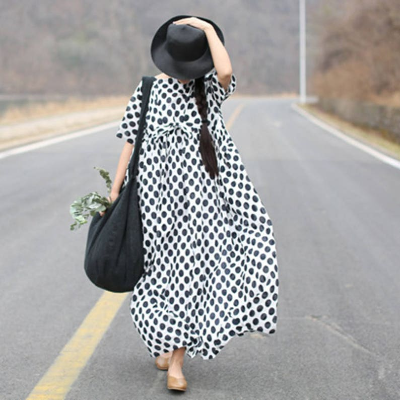 Summer dress large size maxi dress plus size clothing short sleeve long  dress beach dress women cotton dress maternity