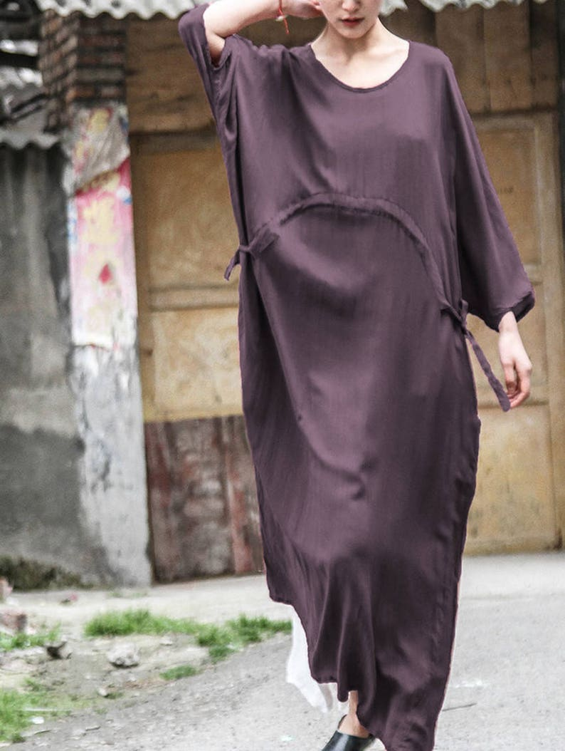14468672a3d12b Vrouwen lange tuniek jurk katoenen blouse zijde katoen jurk