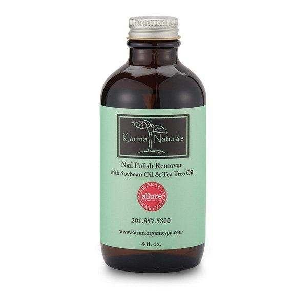 Karma Organic Nail Polish Remover Tea Tree Oil Based Formula Moisturize And Nourish Nails