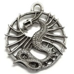 Winged Dragon Pewter Pendant by Treasure Cast