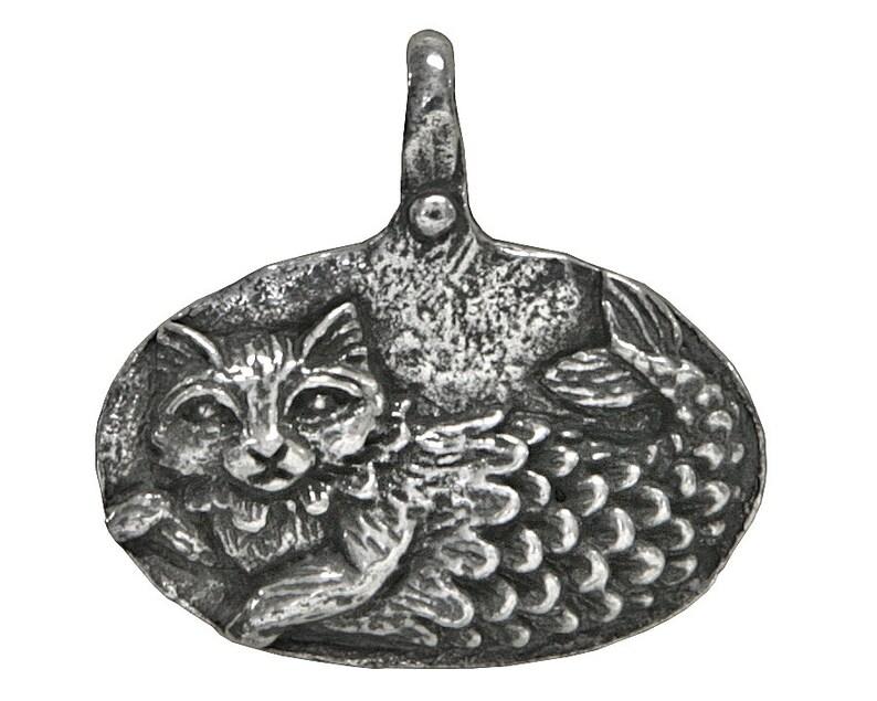 Catfish Imagine Pewter Pendant by Green Girl Studios