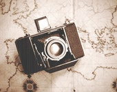 No.2014yds_2LS1958a, Vintage Camera Photo, Fine Art Photography, Monochromatic Photography, Extra Large Wall Art Print, Home Office Decor
