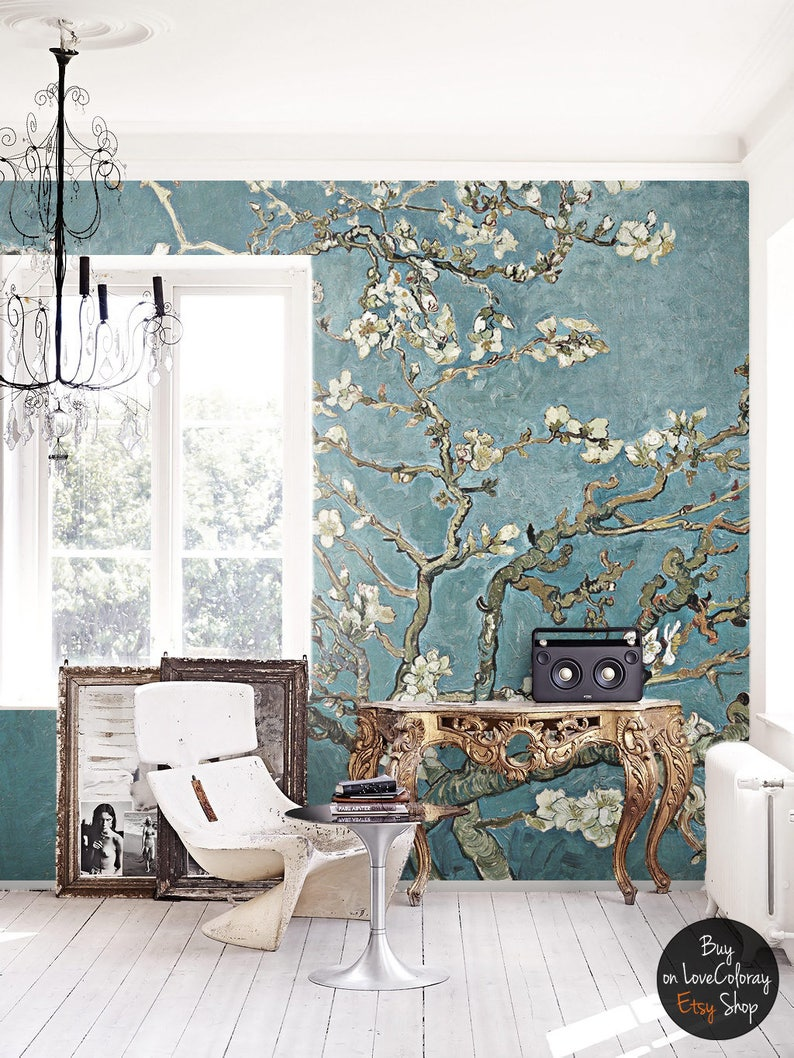 cherry blossom wallpaper chinoiserie wall mural removable etsyimage 0