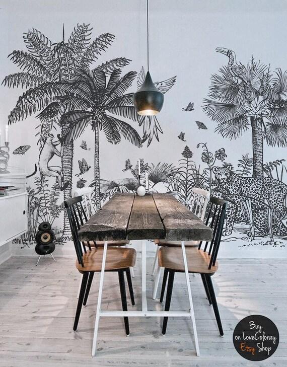 papier peint amovible safari peinture murale murale. Black Bedroom Furniture Sets. Home Design Ideas