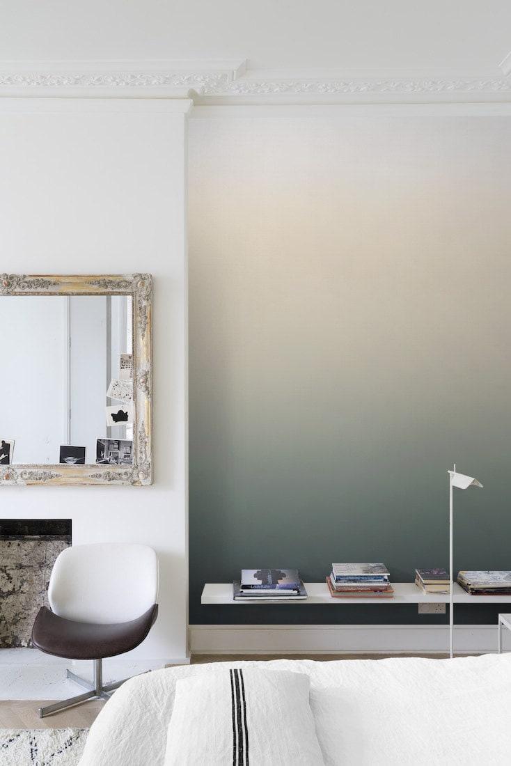 墨绿色渐变墙卧室