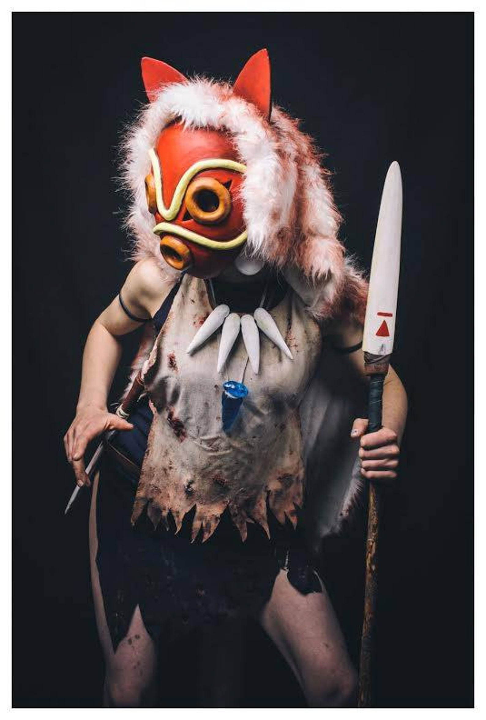Princes Mononoke full costume all handmade Cosplay Very good quality and details
