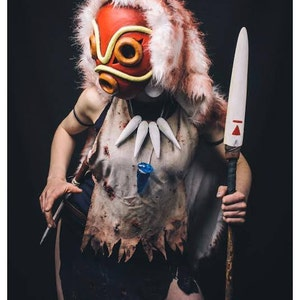 princes mononoke full costume all handmade cosplay very good quality and details halloween blood