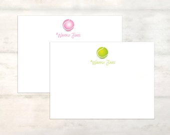 personalized tennis stationery set, personalized stationary tennis notecards, tennis notecard set, note card set, tennis stationary [FB110]