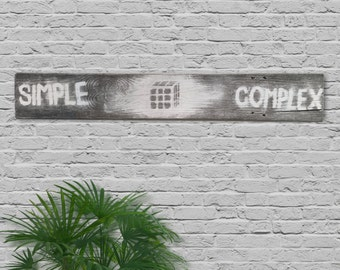"Rustic Wood ""Simple Complex"" Wall Decor"