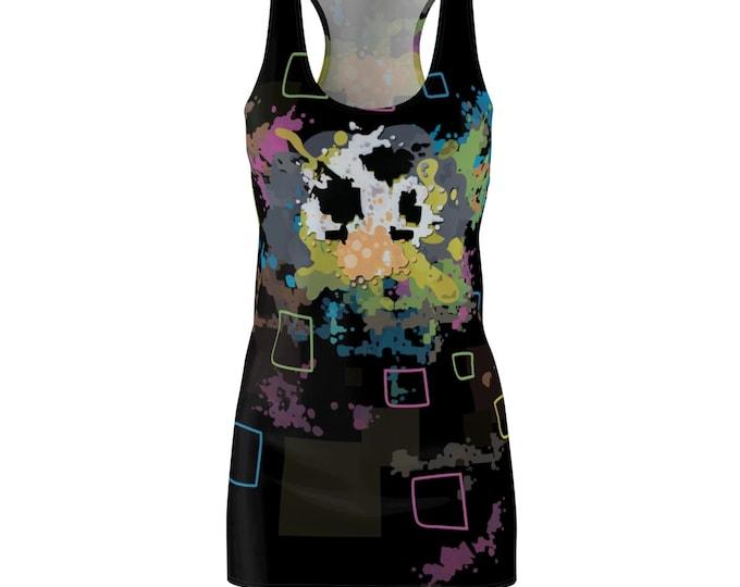 Featured listing image: 8BIT SHROOMS- Women's Cut & Sew Racerback Dress