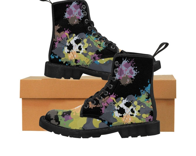 Featured listing image: 8BIT SHROOMS- Women's Canvas Boots