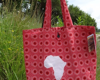 Oversized Tote: Red