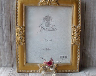 Ornate Jade Fancy Frame Wall Decor with Gold Accents for 8x10 Inch Photos Portraits Vintage Reflections by The Weston Gallery