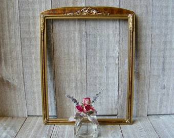 SQUARE ASSEMBLED Traditional Gold Leaf Wood Picture Frame w// Glass /& Backing