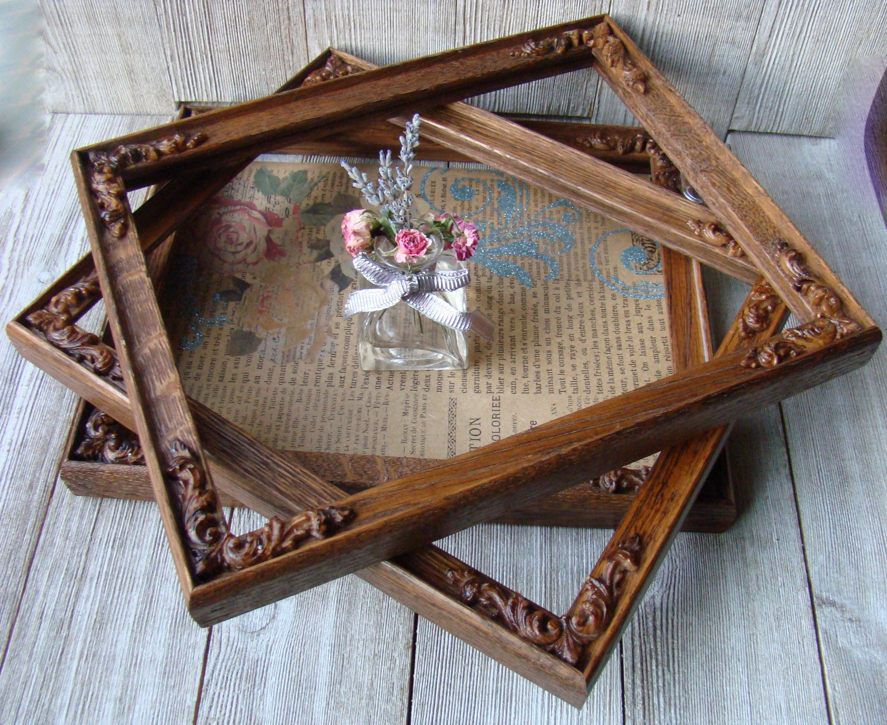 Un Toilette Ou Une Toilette set of 3, gallery of 8 x 10 ornate oak wood picture frames