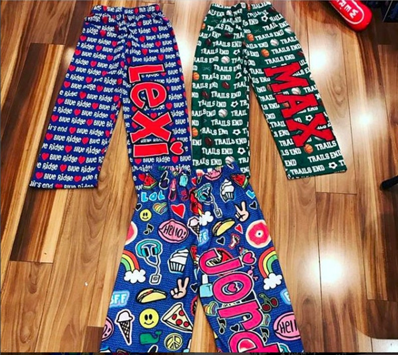 Personalized Patches PJ Pants
