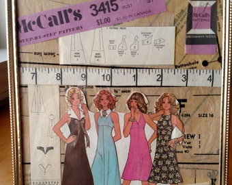 McCall's 3415 Vintage Pattern Collage with Frame