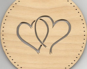 HEARTS # 128, pine needle basket base