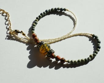 Parched earth & stone necklace #2
