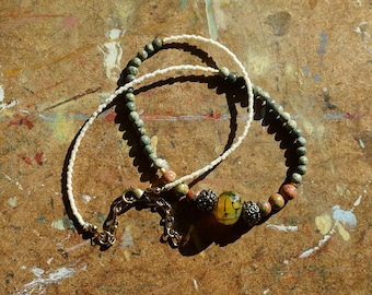 Parched earth & stone necklace #1