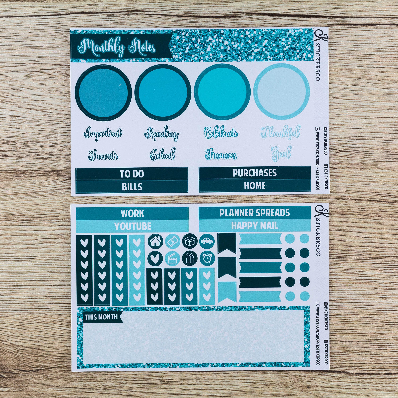mois de juin note page premium mat planner stickers kit pour etsy. Black Bedroom Furniture Sets. Home Design Ideas
