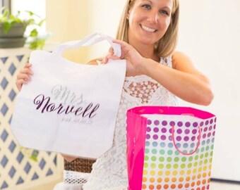 Bride tote bag, customized, bridal gift, bridal tote bag