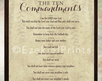 graphic regarding 10 Commandments Kjv Printable identify Lecturers Higher education Catholic 10 Commandments Wall Artwork Printable