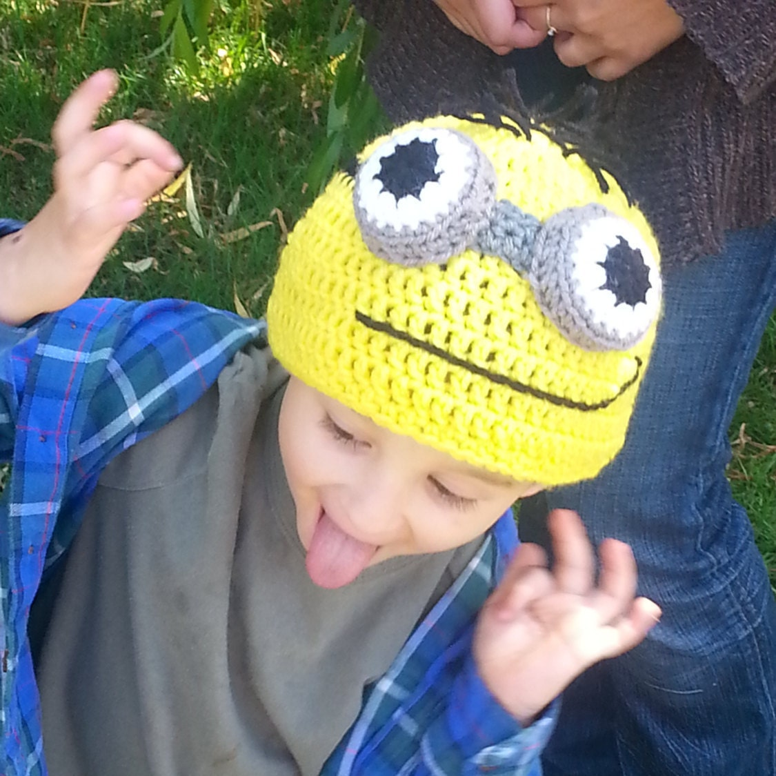 Günstling Hut Kinder häkeln Beanie Handarbeit Häkelhut